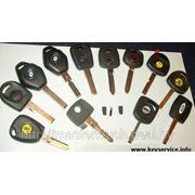 Ключи с иммобилайзером с постоянным кодом фото