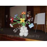 Цветы из воздушных шариков фото