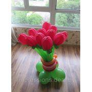 Цветы из воздушных шаров фото