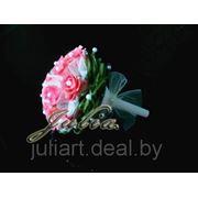 Свадебный букет Яркая роза фото