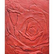 Фактурная штукатурка розы фото