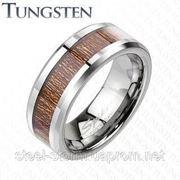 Вольфрамовое кольцо WOOD фото