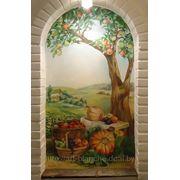 Роспись стен, декоративная штукатурка, декоративный рельеф,лепнина фото