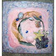 Декоративные панно (лепнина, искусственный камень), морской коллаж фото