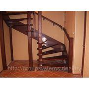 Изготовление лестниц из массива дуба, бука, сосны на косоурах, тетивах. фото