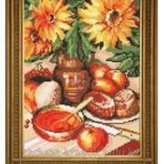 Картиины стразами Подсолнухи в вазе 30х40 см фото