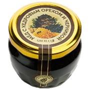 Мёд с кедровым орехом и черникой 95мл/160г фото