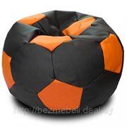"""Кресло """"Мяч"""" """"Черный с оранжевым"""" фото"""