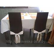 Пошив чехлов на стулья и скатертей на столы фото