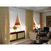 Пошив штор для столовых, гостиных, кабинетов фото