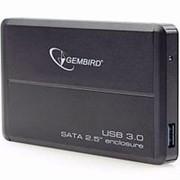 Корпус для HDD 2.5 SATA Gembird EE2-U3S-2 до 1 Тб, алюминиевый, чёрный usb 3.0 фото