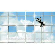 Мойка окон, витрин и фасадов фото