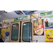 Реклама в вагонах метрополитена фото