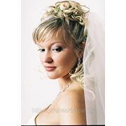 Свадебная прическа 4 фото