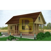 Дом каркасно-щитовой Проект №18 6х9.5 с крыльцом фото