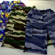 Бермуды с карманами и блочками, кулирка Модель: 623-К Рост: 146,152,158 см. фото