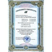 Сертификат соответствия выполнения работ, оказания услуг. Получение фото