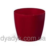 Кашпо Магнолия с подставкой 180*159мм, Бордовый фото