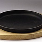 Сковорода овальная на деревянной подставке 240х140 [DSU-S-D2] фото