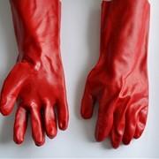 Перчатки БМС крас длинный фото