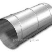 Спирально навивной воздуховод изделия из оцинкованной стали 0,5мм фото
