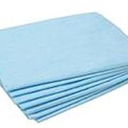 Простынь одноразовая 70*200 EL-P27 пачка (20 шт) голубой фото