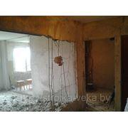 Демонтаж бетонных стен, расширение проёмов, усиление фото