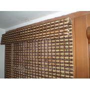 Установка бамбуковых роллет фото