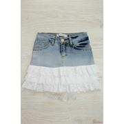 Юбка для девочки джинсовая с рюшами A-yugi Т16-131(15559) л фото