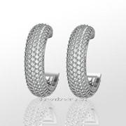 Серьги с бриллиантами E28448-3 фото