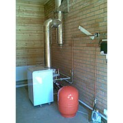 Монтаж напольного конвекционного газового котла мощностью до 15 кВт фото