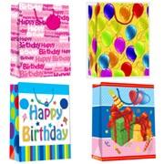 """Пакет подарочный ламинированный """"День рождения"""",26х13,5х32см, 4 диз, (Karotti) фото"""