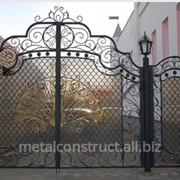 Ворота кованые Павлин №21 фото