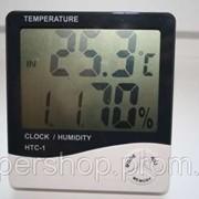 Цифровой термометр часы гигрометр LCD 3 в 1, комнатный термометр 000840 фото