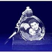 Сувениры из стекла, Брелок «Капелька» 40х35х10мм Код Sh87-1 фото