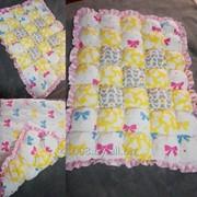 Одеяло-бомбон (коврик) Бантики фото