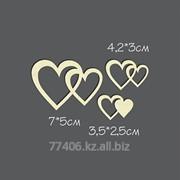 Чипборд Сердечки №7 3шт фото