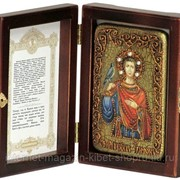 Настольная икона Святой мученик Трифон на мореном дубе фото