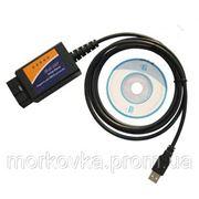 Диагностический сканер для авто OBD-2 ELM327 USB, OBD-2-EL-M327, OBD 2 ELM327 купить фото