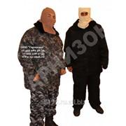 Костюм меховой КМФ серого цвета (куртка+ полукомбинезон) фото