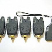 Набор сигнализаторов поклевки FA210-4 с беспроводным пейджером фото