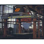 Машина камнерезная МК-3000 для распиловки блоков горных пород высокой прочности (гранита прочностью до 260 МПа макс. размеры распиливаемого блока 3000х2100х1400мм размеры машины (без привода тележки) - 4000х4600х6200мм масса - 13000кг фото