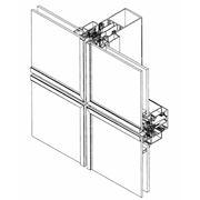 Алюминиевые профили ТЕКНО фасад 60 П- фасадные стоично-ригельные строительные системы для изготовления ограждающих светопрозрачных конструкций и вентилируемых фасадов различной сложности. фото