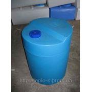 Емкость полиэтиленовая ( бак) вертикальная овальная 60 литров фото