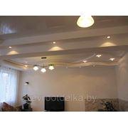 Потолки из гипсокартона с окраской, стоимость работы под ключ фото