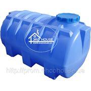 Горизонтальная пластиковая емкость(бак) 1000 литров. фото