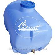 Горизонтальная емкость пластиковая для воды 85 литров. фото