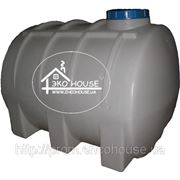 Горизонтальная пластиковая емкость(бак) 3000 литров фото