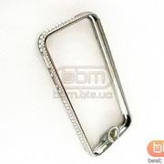 Аксессуар Bumpers iPhone 5S metal (со стразами+кн.) т. серый 57808 фото