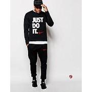 Мужской спортивный костюм Nike Just do it, черный фото